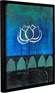 ArtWall Elana Ray's 0ray006a1824f Lotus Blossom Gallery Wrapped Floater Framed Canvas, 18 x 24""