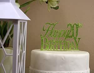 all ABOUT 详细信息 LIME green happy-20th-birthday 蛋糕装饰