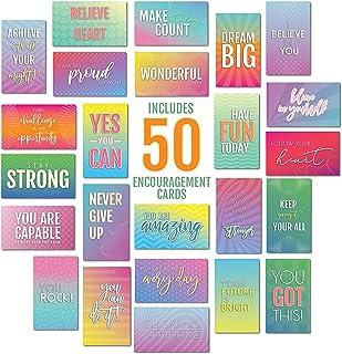 Encourieve and Kindness 引言卡 | 名片尺寸 | 50 张用于激励和信念的记事本 | 2 英寸 x 3.5 英寸