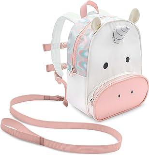 Travel Bug 幼兒*恐龍背包*帶可拆卸牽引繩 粉色/白色 Unicorn