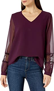 Calvin Klein 女士蕾丝 V 领衬衫