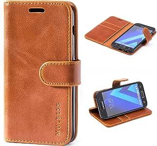 三星 Galaxy A3 (2017) 手机壳,多层皮革保护套,翻盖对开书套,钱袋钱包式保护套带支架适用于三星 Galaxy A3 (2017),黑色4326821859 棕色