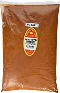 Marshall's Creek Spices 家庭尺寸补充装无盐意粉调味料, 44 盎司(约1.25千克)