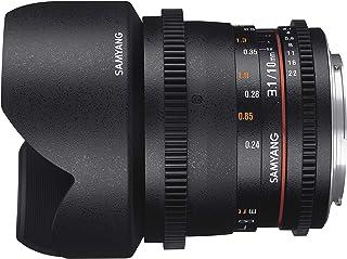 Samyang T3.1 VDSLR II 手动聚焦视频镜头 适用于尼康 DSLR 摄像机7557 Micro 4/3 Micro 4-Thirds 黑色