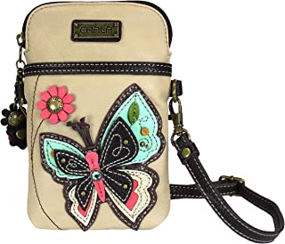 Chala Butterfly Cellphone Crossbody Handbag - Convertible Strap