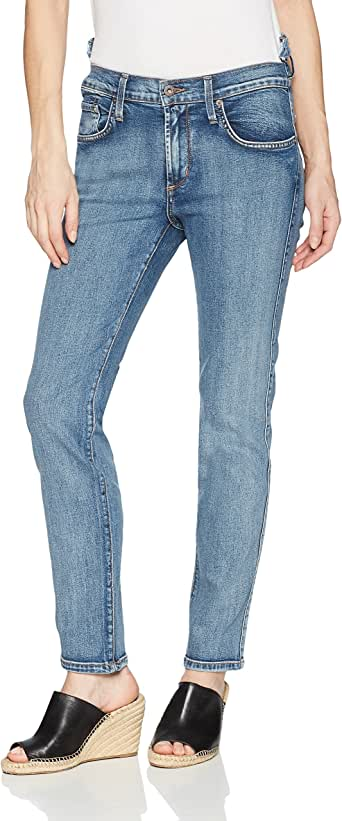 James Jeans 女式 Chica 改造高低腰修身腿裤 Americana 28