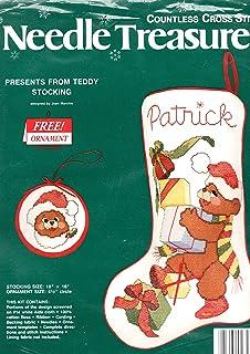 针珍宝出售泰迪圣诞节无数十字绣袜套装 02828