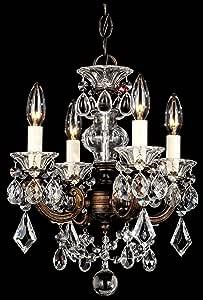 Schonbek 5004-23TK 施华洛世奇灯饰 La Scala 吊灯,Etruscan 金色 需配变压器