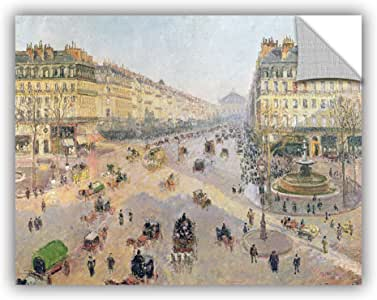 "ArtWall Camille Pissarro's The Avenue De L'Opera Paris Sunlight Winter Morning Art Appeelz Removable Graphic Wall Art, 24 x 32"""