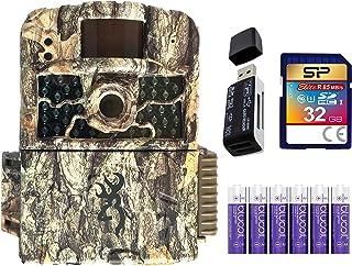 Browning BTC-5HD-MAX Strike Force HD Max 越野摄像机,夜视运动激活套装,含 Blucoil 6 AA 电池,32GB SDHC 存储卡和 USB 2.0 读卡器