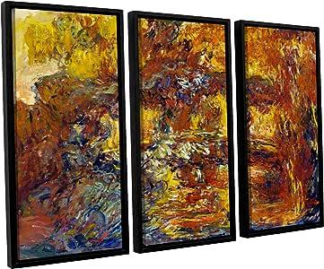ArtWall 3 件克劳德·莫奈日本脚桥浮标加框油画套装 36x54 0mon021c3654f