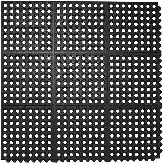 Envelor 家用和花园坚固橡胶抗*排水地板垫(91.44 x 91.44 厘米,互锁穿孔排水地板垫)