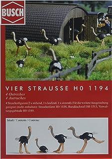 Busch 1194 Ostriches 4/HO 比例风景套装