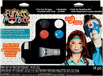 Funkee Munkee Around 香蕉香味,服装和派对化妆工具,脸彩绘 多种颜色 39836