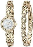 armitron 女式75/5412施华洛世奇*装饰手表和手镯套装