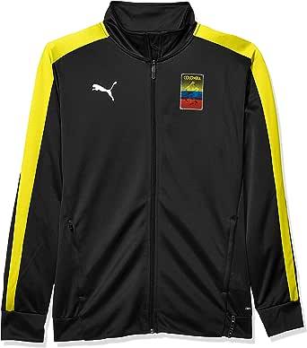 PUMA 男士 Copa America T7 夹克 Puma Black/Dandelion Small