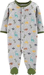 Carter's 男婴恐龙按扣式棉质*和玩耍灰色睡衣 新生儿