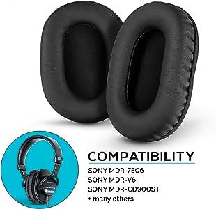 Brainwavz Pleather 耳塞 SONY MDR 7506 - V6 - CD900ST 带*泡沫