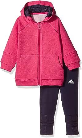 adidas Kids 阿迪达斯 婴儿 针织套服 CE9589 鲜红 MEL./暗墨水蓝 F17 104