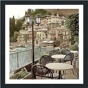 "Picture Perfect International 704-1889-3030 Alan Blaustein ""Porto Caffè, Italy"" Framed Plexiglass Wall Decor, 33.5"" x 33.5"" x 0.75"""