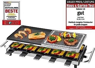 Profi Cook PC - RG 1144 Raclette/桌子烧烤带自然格栅石头和双面铸造板, 10 pfaennchen, 10木中, 1700 W