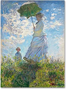 Trademark Fine Art Woman with a Parasol 1875 艺术家 Claude Monet 24by32-Inch BL01474-C2432GG