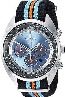 "Seiko 男士""RECRAFT 系列""石英不锈钢和尼龙礼服手表,颜色:黑色(型号:SSC667)"