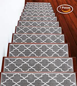 Sussexhome Trellisville 系列 灰色 Stair Treads 7-Pack TRLV-GR-7Pack