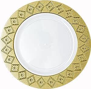 PartyPom 重量级一次性钻石星金和白色 7.25 Inches 43235-91970