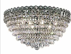 Elegant Lighting Century 12 英寸高 9 点灯枝形吊灯 镀铬色 20-Inch x 12-Inch 1902F20C/RC