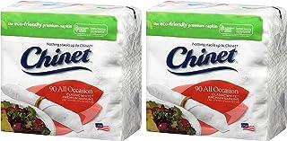 Chinet 经典白色 2 层餐巾,90 只装 - 2 只装