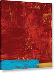 """ArtWall Elana Ray's Red Abstract Gallery Wrapped Canvas, 18 x 24"""", Multicolor"""
