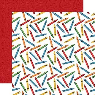 Echo Park Paper Company SCR215012 返校用纸,红色,蓝色,黑色,*,黄色,橙色