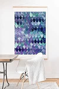 Society6 Monika Strigel 夏季美人鱼薄荷艺术印刷品和挂钩 多种颜色 30x30 70769-aandh7