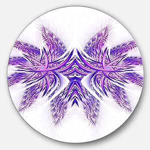 Designart 抽象圆壁画 - 圆盘 紫色 23X23 - Disc of 23 inch MT12096-C23