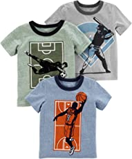 Carter ' s 婴儿男孩3只装短袖图案 t 恤