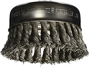 Bosch WB510 4-Inch Knotted Carbon Steel Cup Brush, 5/8-Inch x 11 Thread Arbor