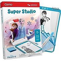 Osmo Super Studio 迪士尼冰雪奇缘2游戏-5-11岁-学习画Elsa,Anna,Olaf和更多喜爱的人物并看它们栩栩如生-(需要iPad和Fire 平板电脑底座)