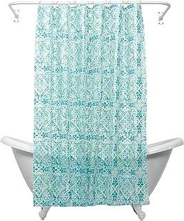 ZPC Zenith Products Corporation 印度墨水摩洛哥皮瓦浴帘内衬 蓝色 146194023Z