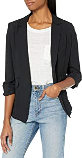A. Byer 女式青少年褶边袖男友外套