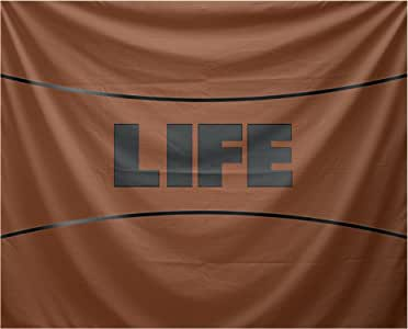 "E by design Life Word 印花挂毯 橙色 50 x 60"" TYW873OR16-50"