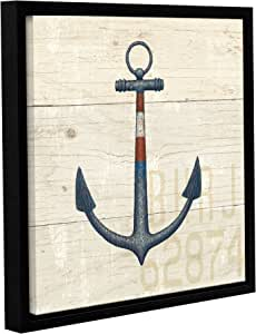 "ArtWall ""James Wien's Nautique III"" Gallery Wrapped Floater-Framed Canvas, 14"" x 14"""