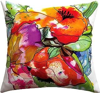 DENY Designs CayenaBlanca Big 2 Outdoor Throw Pillow 粉红色 20 到 20 英寸