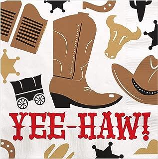 Big Dot of Happiness Western Hoedown - Wild West Cowboy Party 午餐巾(16 片装)