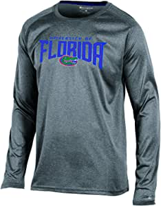 Champion NCAA 男式 All Time 长袖合成 T 恤 杂灰色 X大码
