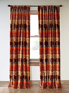 Carstens, Inc. 漫游野生窗帘,棕色