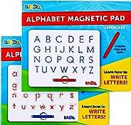BleuZoo 字母磁力字母描图板 2 合 1 - 教学 ABC 读写 学前画(大写字母和小写)