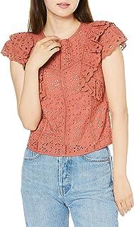 [LLEY棕色] 棉质蕾丝上衣 LWFT202103 女士