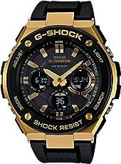 Casio卡西欧 GSTS100G-1A 男士G-Shock系列 双显黑色表盘黑色树脂表带 世界时间潜水腕表手表