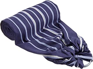 DIDYMOS DidySling 环形吊带婴儿背带条纹(*棉),浅蓝色/深蓝色/白色,尺寸1(180cm)